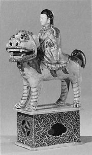 Figure of Xi Wang Mu, Queen of the West, Riding a Lion