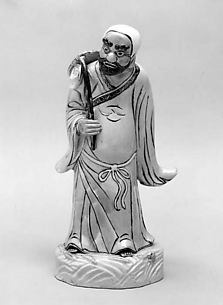 Figure of Bodhidharma Crossing Yangtze River on Reed