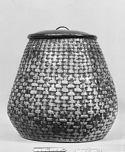 Jar in form of a Cone-Shaped Basket