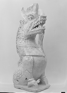 Roof Tile in the Form of a Dragon