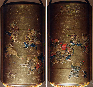 Case (Inrō) with Design of Chinese Children at Play
