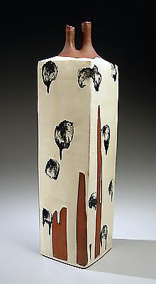 Vessel with Dripping Black Ink Design (Sumi nagashi tsubo)