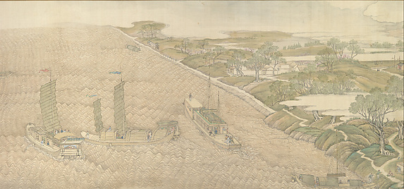 The Qianlong Emperor's Southern Inspection Tour, Scroll Four: The Confluence of the Huai and Yellow Rivers (Qianlong nanxun, juan si: Huang Huai jiaoliu)