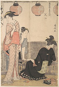 Scene in Nakasu, a District of Edo