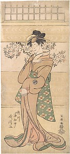 Actor Segawa Tomisaburo II as the Geisha Asaka