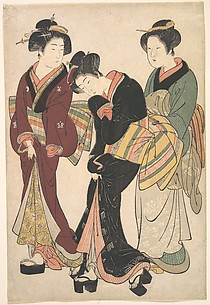 Two Geishas and a Maid