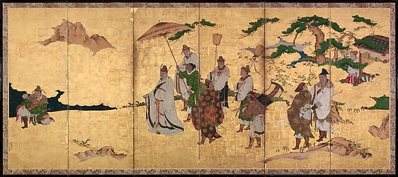 Meeting between Emperor Wen and Fisherman Lü Shang