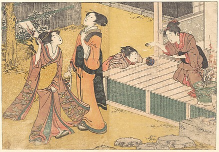 New Year's Games, from the printed book Flowers of the Four Seasons (Shiki no hana)