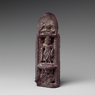 Three-Sided Section of a Portable Shrine with Scenes from the Life of the Buddha