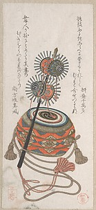 Drum and Keiro, A Kind of Musical Instrument Used for the Bugaku Dance