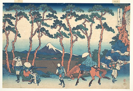 Hodogaya on the Tōkaidō (Tōkaidō Hodogaya), from the series Thirty-six Views of Mount Fuji (Fugaku sanjūrokkei)