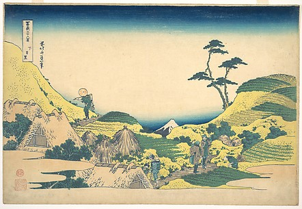Lower Meguro (Shimo Meguro), from the series Thirty-six Views of Mount Fuji (Fugaku sanjūrokkei)