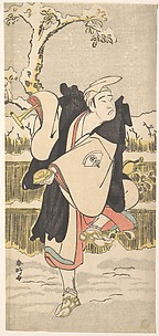 Onoe Matsusuke as a Kannen-Butsu or Mendicant Buddhist Monk