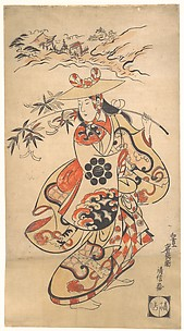 Actor Sawamura Kodenji as a Woman at the Time of the Tanabata Festival