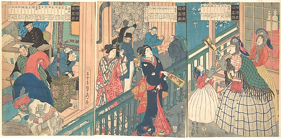 A True View of a Trading House of a Yokohama Merchant