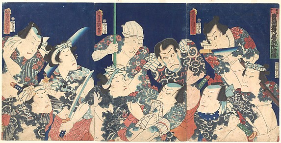 Utagawa&#39;s Lifetime Masterpiece, from the Japanese version of the Shuihu Zhuan