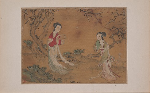 Two Ladies in Foreground of Landscape