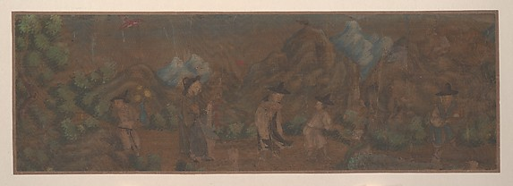 Landscape Painting of Figure in Woodland Setting