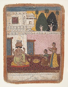 Khambavati Ragini:  Page from a Dispersed Ragamala Series (Garland of Musical Modes)