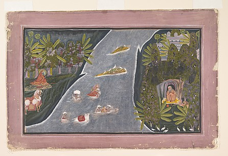 Radha Crosses a River to Interview a Hindu Sage
