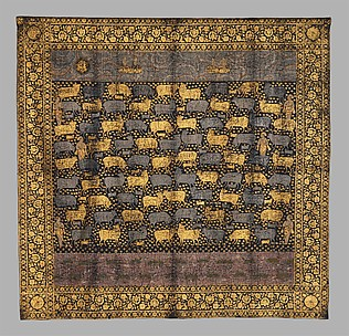 Painted Cloth (Pichwai) Depicting the Celebration of the Festival of Cows
