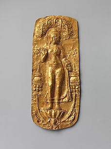 Plaque with Standing Buddha