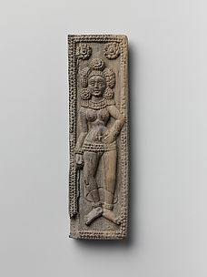 Plaque with Standing Yakshi