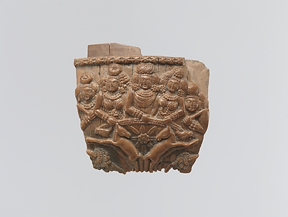 The Sun God Surya(?) in His Chariot with Wives and Attendants