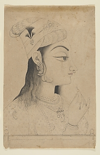 Woman with a Turban Dressed as Radha