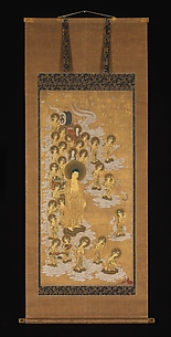 The Welcoming Descent of Amida Buddha and Twenty-five Bodhisattvas