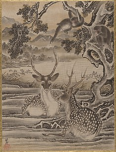 Deer and Monkeys