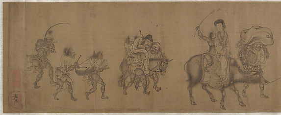 The Demon Queller Zhong Kui Giving His Sister Away in Marriage