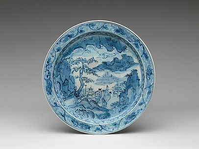 Plate with Landscape Design