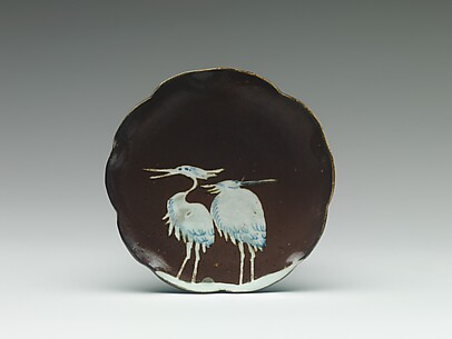 Plate with Decoration of Two Cranes