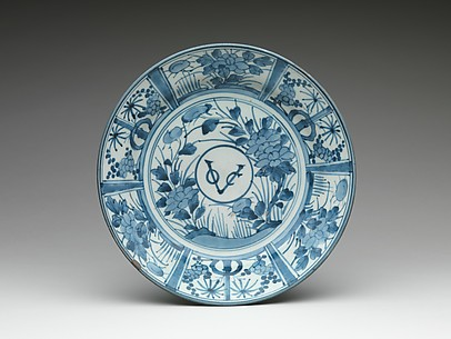 Plate with Monogram of the Dutch East India Company