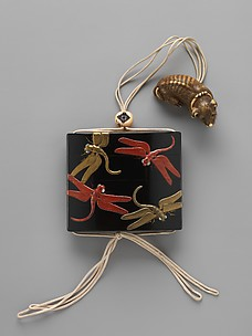Case (Inrō) with Design of Dragonflies