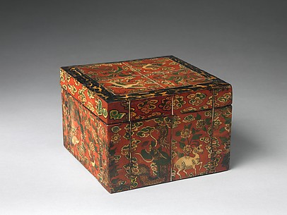 Box with Decoration of Auspicious Symbols