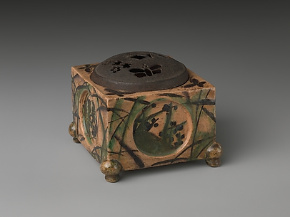 Incense Burner (kōro) with Design of Grasses, Cherry Blossoms and Butterflies