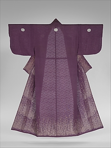 Unlined Kosode (Hitoe) with Grasses and Dewdrops