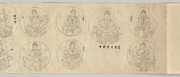 Scroll of Deities of the Diamond World Mandala