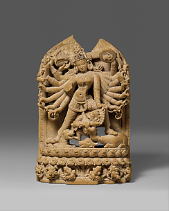The Goddess Durga Killing the Buffalo Demon (Mahishasura Mardini)