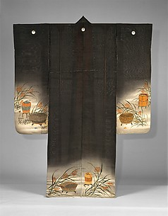 Summer Kimono with Crickets, Grasshoppers, Cricket Cage and Miscanthus Grass