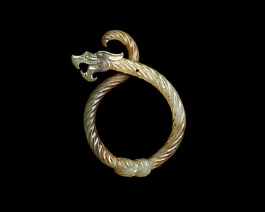 Pendant in the Shape of a Knotted Dragon