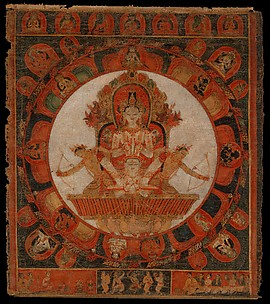 Mandala of Chandra, God of the Moon