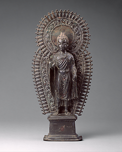 Standing Buddha with Radiate Combined Halo