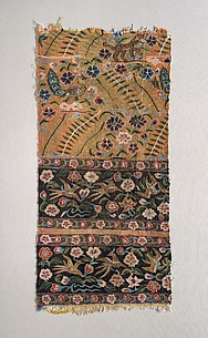 Kesi Panel with Tiger and Birds on Floral Ground