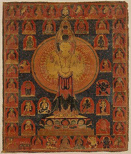 Thousand-Armed Chenresi, a Cosmic Form of the Bodhisattva Avalokiteshvara