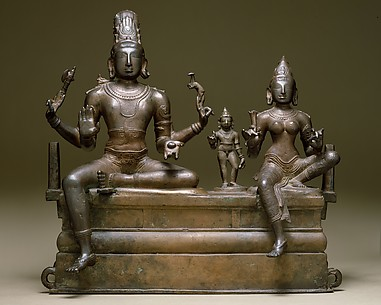 Shiva, Uma, and Their Son Skanda (Somaskandamurti)