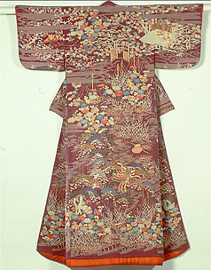 Kosode with Scenes from Nō Plays