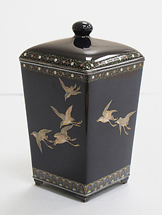 Covered Jar with Birds in Flight